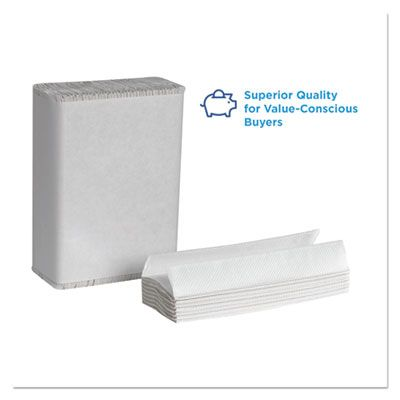 """Georgia-Pacific 20241 Pacific Blue Select C-Fold Paper Hand Towels, 10-1/10"""" x 13-1/5"""", White - 2400 / Case"""