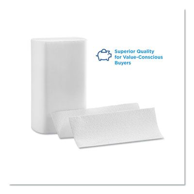 """Georgia-Pacific 21000 Pacific Blue Select Multifold Paper Hand Towels, 2 Ply, 9-1/5"""" x 9-2/5"""", White - 2000 / Case"""
