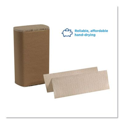 """Georgia-Pacific 23304 Pacific Blue Basic Multifold Paper Towels, 9.2"""" x 9.4"""", Brown - 4000 / Case"""