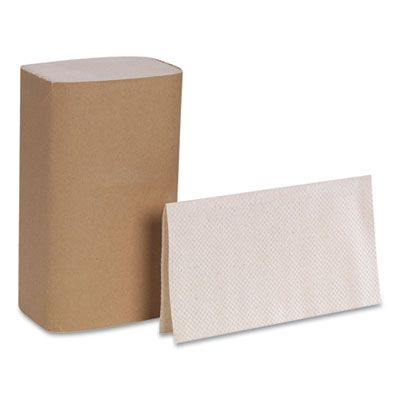 "Georgia-Pacific 23504 Singlefold Paper Hand Towels, 9-1/4"" x 10-1/4"", Brown - 4000 / Case"