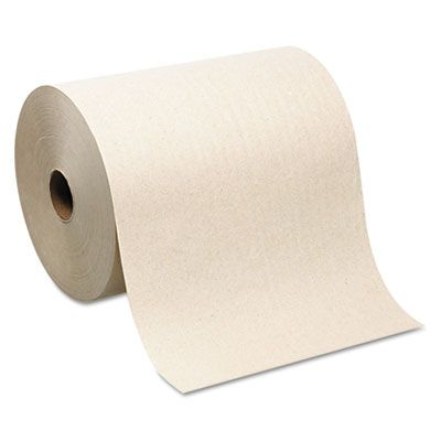 "Georgia-Pacific 26480 SofPull Hardwound Roll Paper Hand Towels, 1Ply, 8"" x 1000', Brown - 6 / Case"