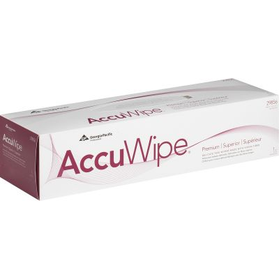"""Georgia-Pacific 29856 AccuWipe Technical Cleaning Wipers, 1 Ply, 15"""" x 16-7/10"""", White - 225 / Case"""