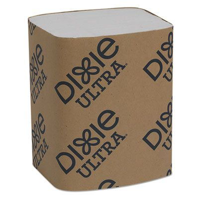 "Georgia-Pacific 32006 Dixie Ultra Interfold Paper Dispenser Napkin Refill, 2 Ply, 6.5"" x 5"" White - 6000 / Case"