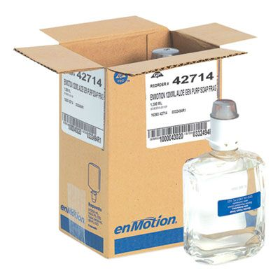 Georgia-Pacific 42714 GP Enmotion Soap / Sanitizer, Unscented, Automated Touchless 1200 mL Refill - 2 / Case