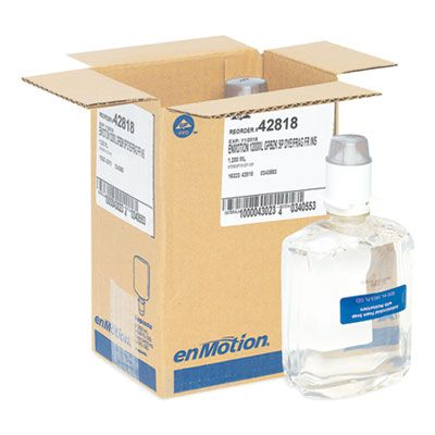 Georgia-Pacific 42818 GP Enmotion Soap / Sanitizer, Unscented, Automated Touchless 1200 mL Refill- 2 / Case