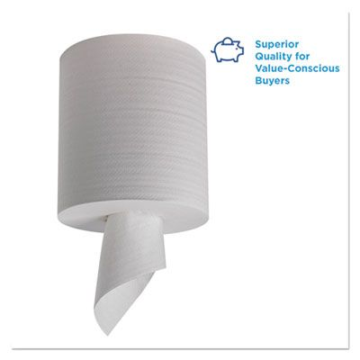 """Georgia-Pacific 44000 Pacific Blue Select Center-Pull Perforated Wipers, 8-1/4"""" x 12"""", White - 3120 / Case"""