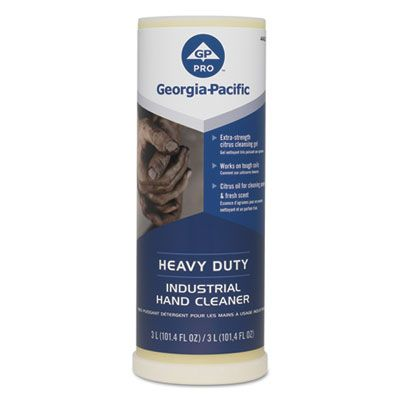 Georgia-Pacific 44627 Heavy Duty Industrial Hand Cleaner Gel, Citrus, 101.4 fl oz - 4 / Case