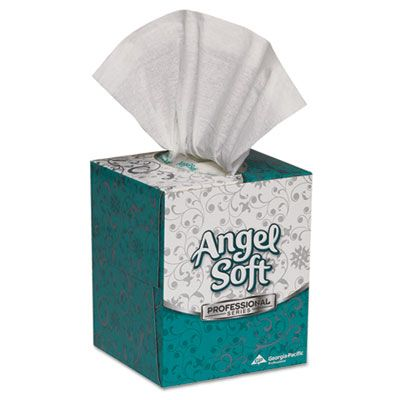 Georgia-Pacific 46580 Angel Soft Facial Tissue, 2 Ply, 96 Sheets / Cube Box - 36 / Case