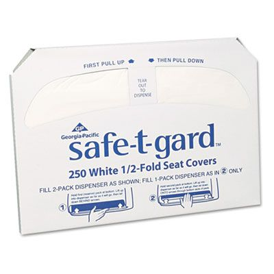 Georgia-Pacific 47046 Half Fold Toilet Seat Covers, White - 5000 / Case
