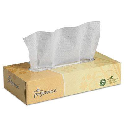 Georgia-Pacific 48100 2 Ply Facial Tissue, 100 Sheets / Flat Box - 30 / Case