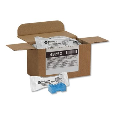 Georgia-Pacific 48250 ActivAire Deodorizer Refill Cartridge, Coastal Breeze, Blue - 12 / Case