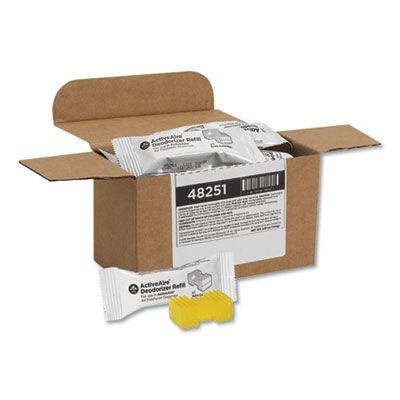 Georgia-Pacific 48251 ActiveAire Deodorizer Refill, Sunscape, Yellow - 12 / Case