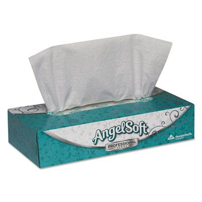 "Georgia-Pacific 48580 Angel Facial Tissue, 2 Ply, 100 Tissues / Flat Box, 8.88"" x 7.75"", White - 30 / Case"
