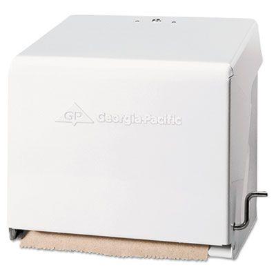 Georgia-Pacific 56201 Mark II Crank Dispenser for Hardwound Roll Paper Towels, White - 1 / Case