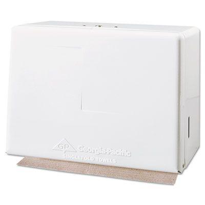 Georgia-Pacific 56701 Dispenser for Singlefold Paper Hand Towels, White - 1 / Case