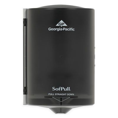 Georgia-Pacific 58008 Dispenser for SofPull Junior Center Pull Paper Hand Towels, Translucent Smoke - 1 / Case