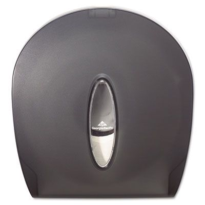 "Georgia-Pacific 59009 Jumbo Jr. Roll Toilet Paper Dispenser, 10.6"" x 5.4"" x 11.3"", Translucent Smoke - 1 / Case"