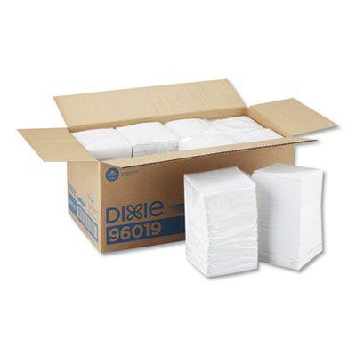 """Georgia-Pacific 96019 Paper Beverage Napkins, 1 Ply, 9-1/2"""" x 9-1/2"""", White - 4000 / Case"""