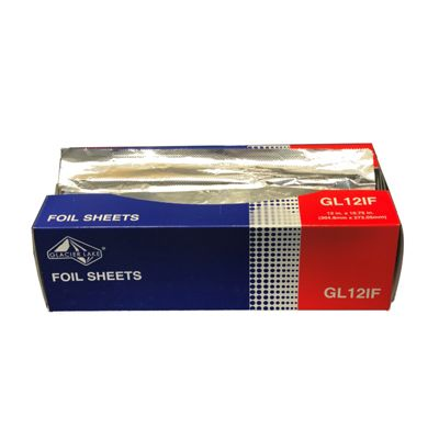 "Glacier Lake GL12IF Interfolded Aluminum Foil Sheets, 12"" x 10.75"" - 3000 / Case"