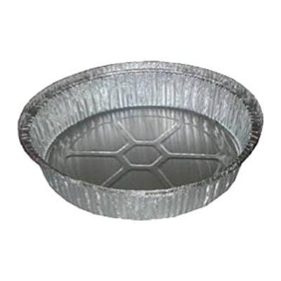 """Glacier Lake GL9RND 9"""" Round Aluminum Foil Take Out Pans, 28 Gauge - 500 / Case"""