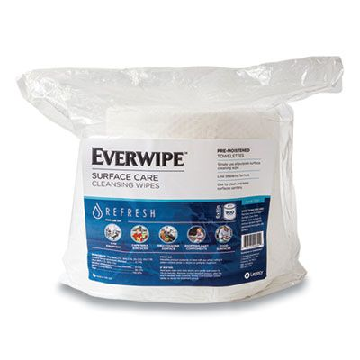 "GN1 11100 Surface Cleaning and Deodorizing Wipes, Pre-Moistened, 6"" x 8"", 900 / Bag - 4 / Case"