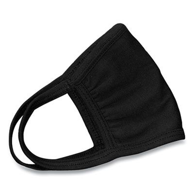 Cotton Face Mask with Antimicrobial Finish, Black - 10 / Case