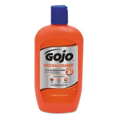 GOJO 095712 Natural Orange Pumice Hand Cleaner, 14 oz Bottle - 12 / Case