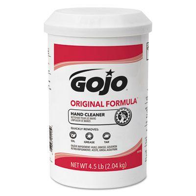 GOJO 1115 Original Formula Hand Cleaner, 4.5 Lb Refill Cartridge, White - 6 / Case