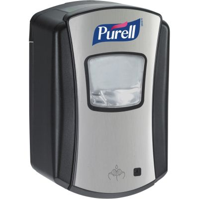 Gojo 132804 PURELL Automatic Hand Sanitizer Dispenser, 700 ml, Black / Chrome - 4 / Case