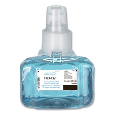 GOJO 134403 Provon Foaming Antibacterial Hand Soap with PCMX, Floral Scent, 700 ml LTX-7 Refill - 3 / Case