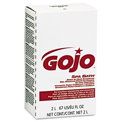 GOJO 2252 Spa Bath Body & Hair Shampoo, Herbal, Rose Color, NXT 2000 mL Refill - 4 / Case