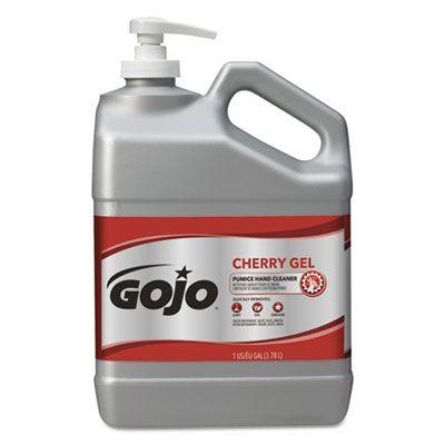 GOJO 235802 Cherry Gel Pumice Hand Cleaner, 1 Gallon Bottle - 2 / Case