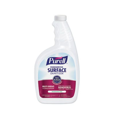 GOJO 334106 Purell Foodservice Surface Sanitizer, Fragrance Free, 32 oz - 6 / Case