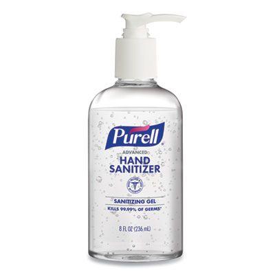 GOJO 404012S Purell Advanced Hand Sanitizer Gel, 8 oz Pump Bottle - 12 / Case