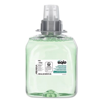 GOJO 516303 Luxury Foam Hair & Body Wash, Cucumber Melon, FMX-12 1250 mL Refill - 3 / Case