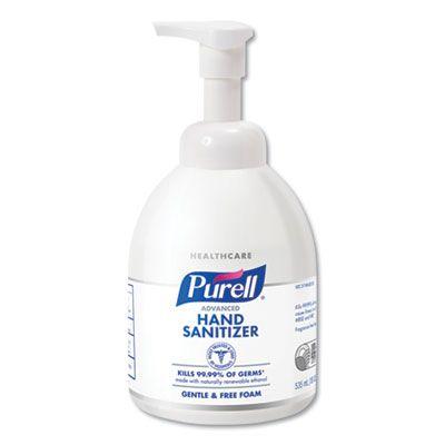 GOJO 579104 PURELL Hand Sanitizer Foam, Gentle & Free, 535 mL Pump Bottle - 4 / Case