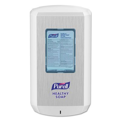 "GOJO 653001 PURELL CS6 Soap Touch-Free Automatic Dispenser, 1200 mL, 4.88"" x 8.19"" x 11.38"", White - 1 / Case"