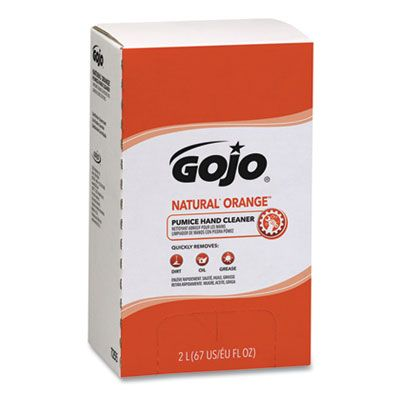 GOJO 7255 Natural Orange Pumice Hand Cleaner, 2000 ml Pro TDX Refill - 4 / Case