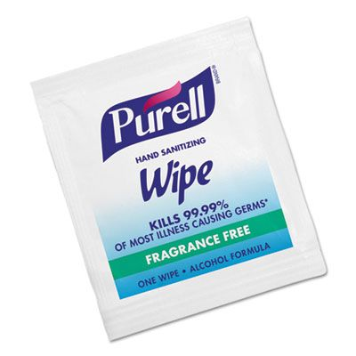 GOJO 90211M PURELL Hand Sanitizing Wipes, 62% Alcohol - 1000 / Case