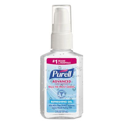 Gojo 960624 Purell Instant Hand Sanitizer Gel, 2 oz Pump Bottle - 24 / Case
