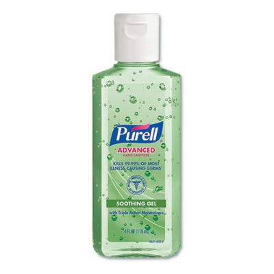 Gojo 963124 Purell Hand Sanitizer with Aloe, 4 oz Squeeze Bottle - 24 / Case