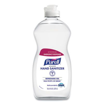 GOJO 974712S Purell Advanced Hand Sanitizer Gel, Alcohol Based, Clean Scent, 12.6 oz Squeeze Bottle - 12 / Case