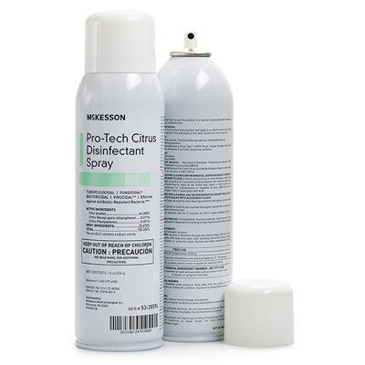 McKesson 53-28594 Pro-Tech Surface Disinfectant Cleaner, Alcohol, Citrus Scent, 16 oz Aerosol Can - 1 / Case