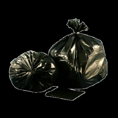 "Aluf Plastics CXP/CXM4347 56 Gallon Trash Can Liners / Garbage Bags, 43"" x 47"", 1.5 Mil EQ, Black - 100 / Case"