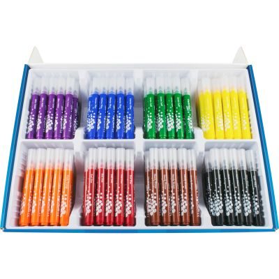 Helix 846170 Ultra Washable Markers, Broad Tip, Assorted Colors - 200 / Case