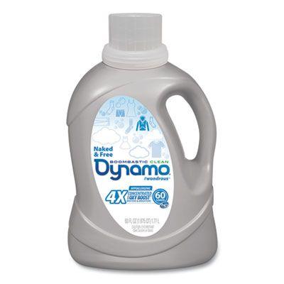 Henkel DYNMO23 Dynamo Naked & Free Laundry Detergent Liquid, 60 oz Bottle - 6 / Case
