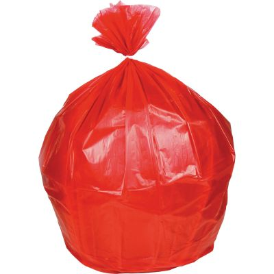 "Heritage B6036HR Healthcare Biohazard Can Liners / Waste Bags, 0.8 Mil, 30"" x 36"", Red - 250 / Case"