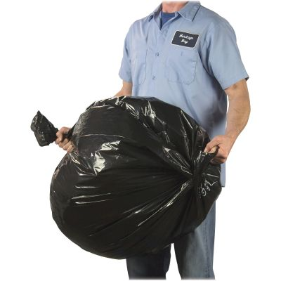 """Heritage H6649QKLL1 32 Gallon Litelift Contractor Garbage Bags, 2.5 Mil, 33"""" x 46"""", Black - 50 / Case"""