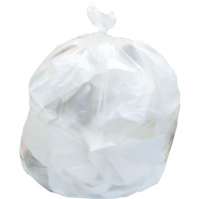 "Heritage Z7260HN 55 Gallon Trash Can Liners / Garbage Bags, 13 Mic, 36"" x 60"", Natural - 200 / Case"