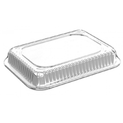 HFA 2059DL-1000 Dome Lid for 1 lb Aluminum Foil Carryout Containers, Clear Plastic - 1000 / Case